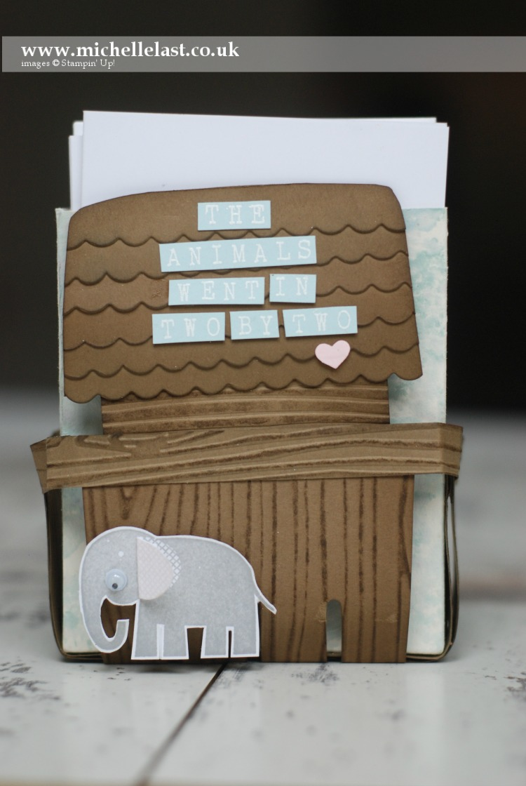 zoo babies ark notecard box by Michelle Last