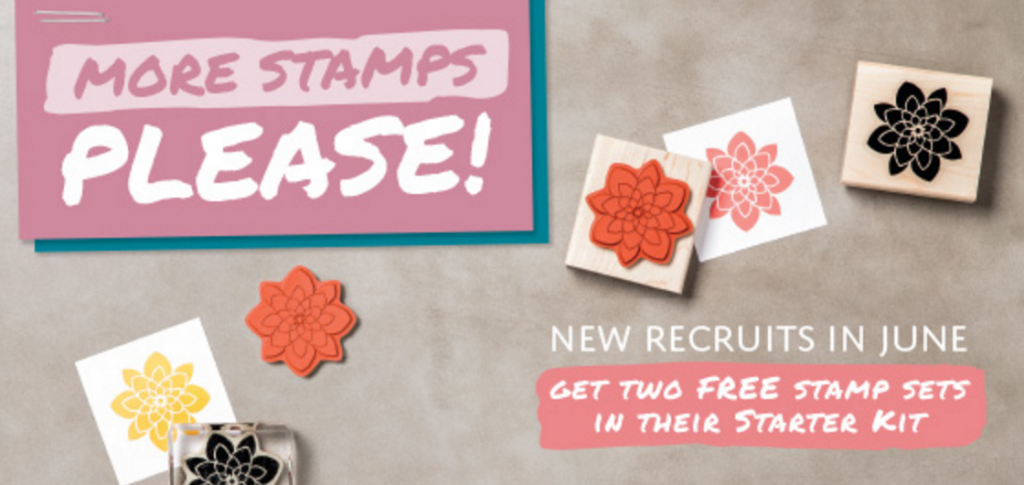 Free stamps when you join stampin up in june 2016