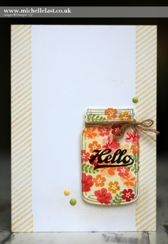 Hello Jar of Love from Stampin Up