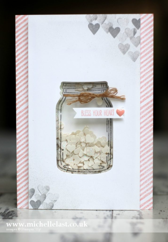 Jar of Love Shaker Card using Stampin Up Supplies