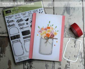 Jar of Love Vase of Flowers - Pinkies Blog Hop