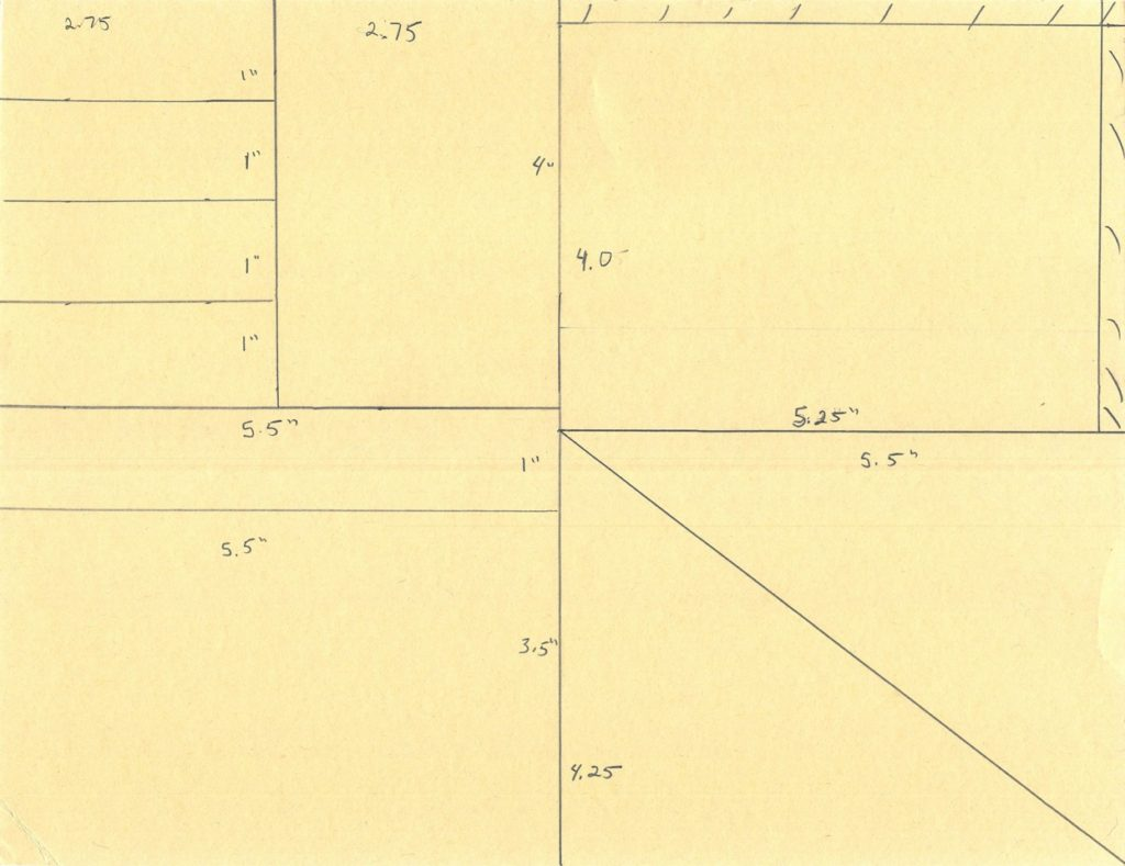 One Sheet Wonder by Michelle Last Measurements in Inches