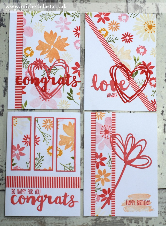 Blooms & WIshes One Sheet Wonder 4 cards