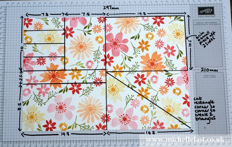 Blooms & Wishes One Sheet Wonder Measurements