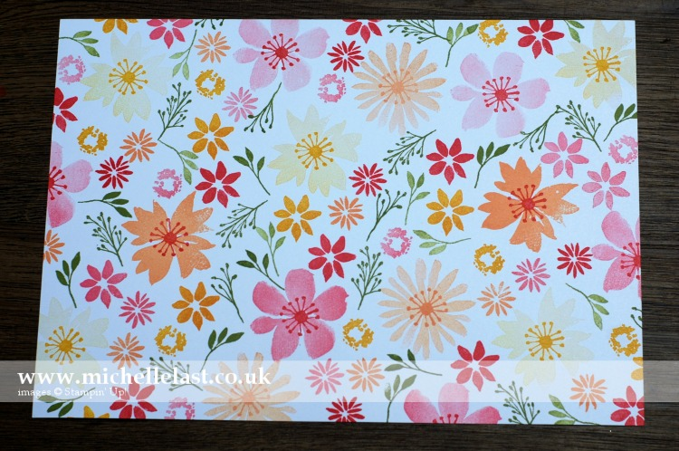 Blooms & Wishes One Sheet Wonder Stamped A4