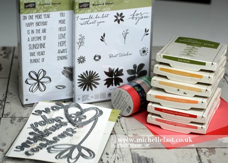 Blooms & wishes One Sheet Wonder - Supplies Needed