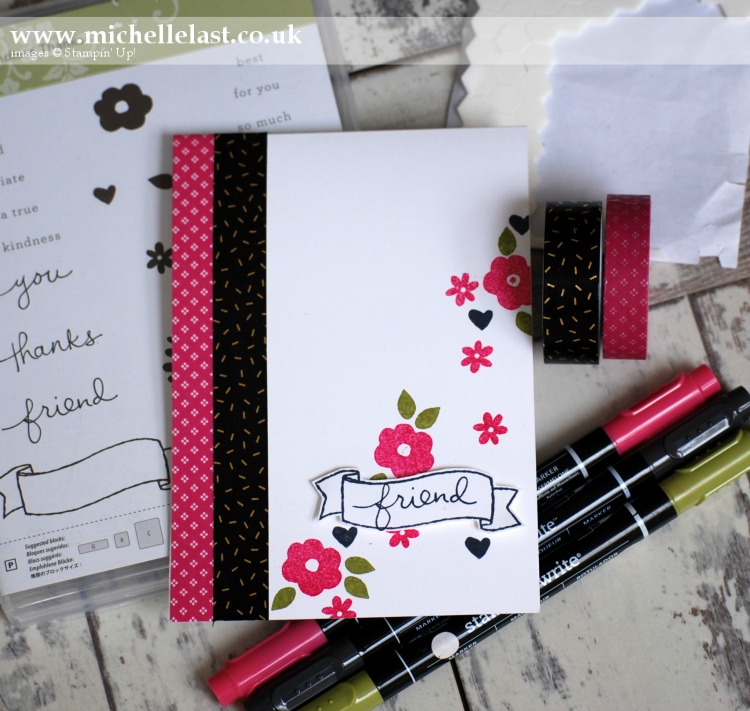 Technique 101 - Marker Pens from Stampin Up using Endless Thanks