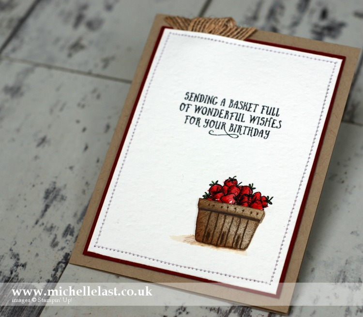 Basket of Wishes from Stampin Up