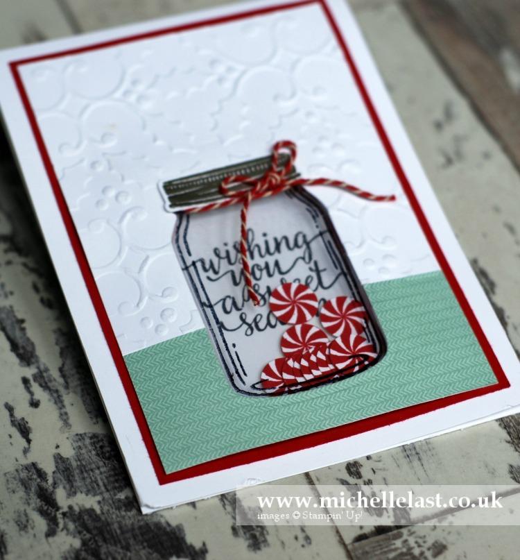 Jar of Love Christmas Shaker Card
