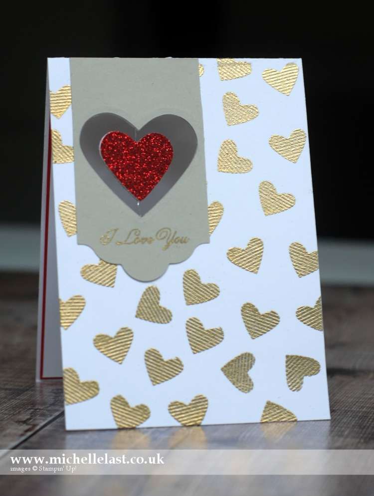 #GDP074 Valentine Card using Stampin Up supplies