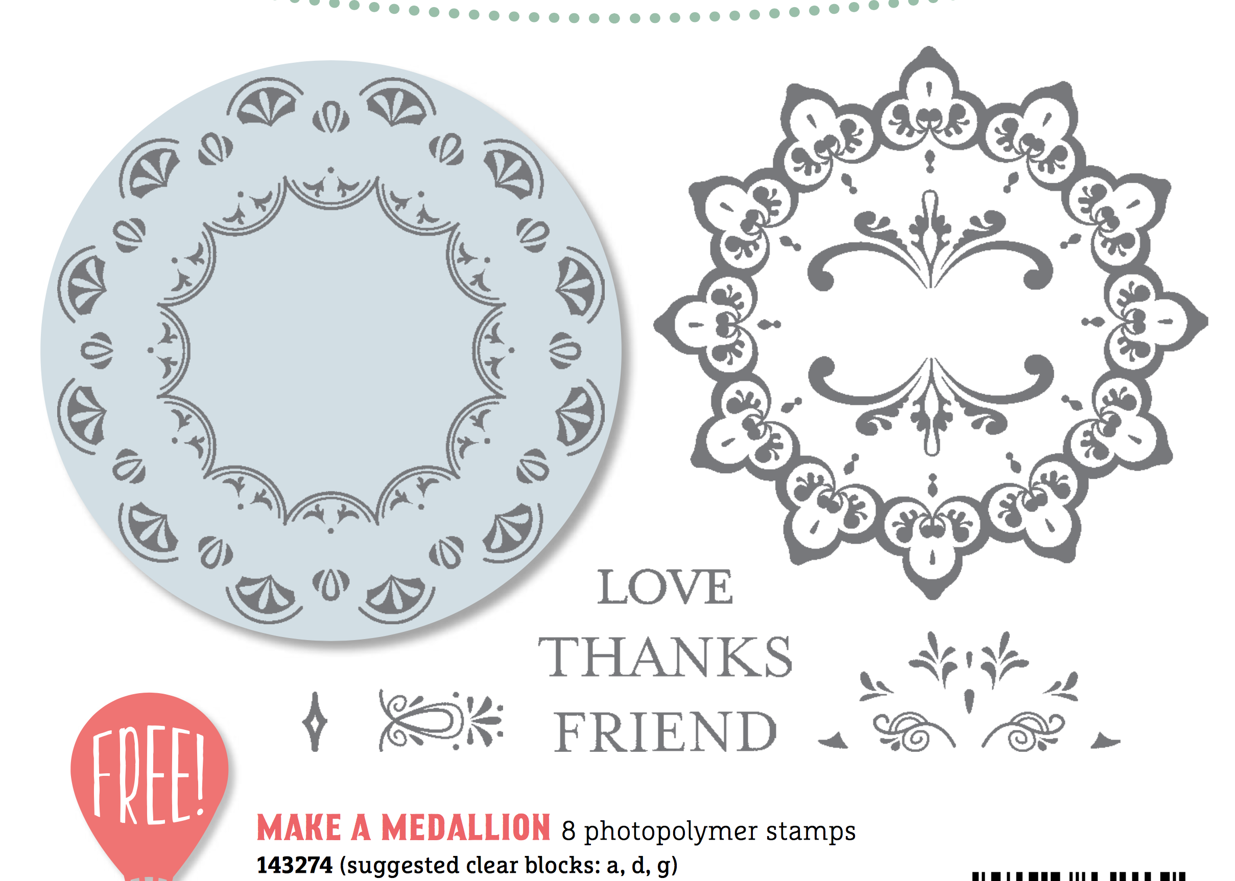 Make a Medallion FREE from Stampin Up