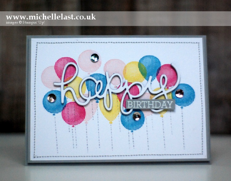 Super Duper Birthday Balloons from Stampin Up