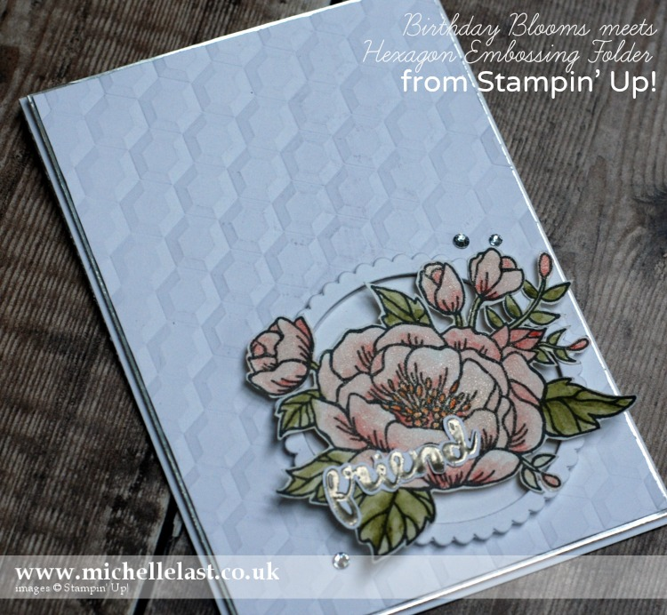 Birthday Blooms & Hexagons Embossing Folder