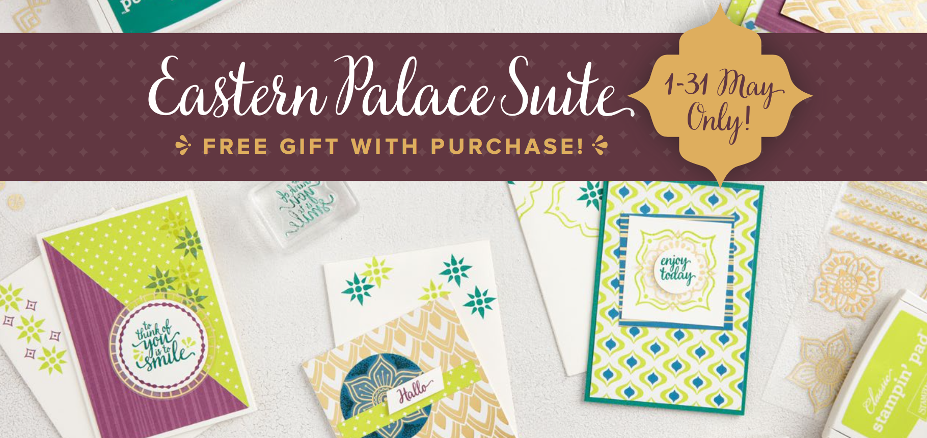 Eastern Palace Suite from Stampin Up