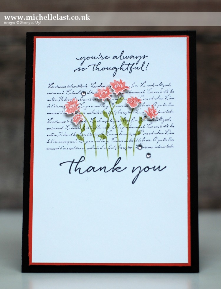 Background Bits Thank you from Stampin Up