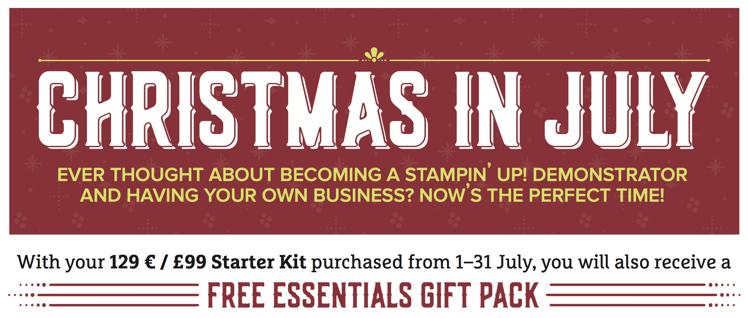 Christmas in July - Joining Offer from Stampin Up