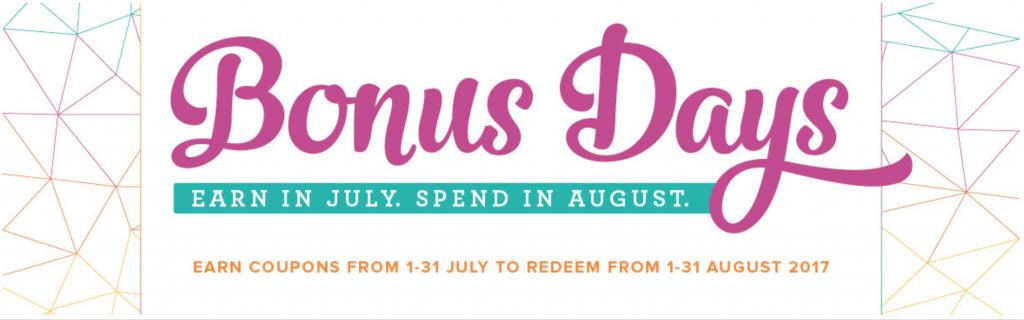 Bonus Days from Stampin Up