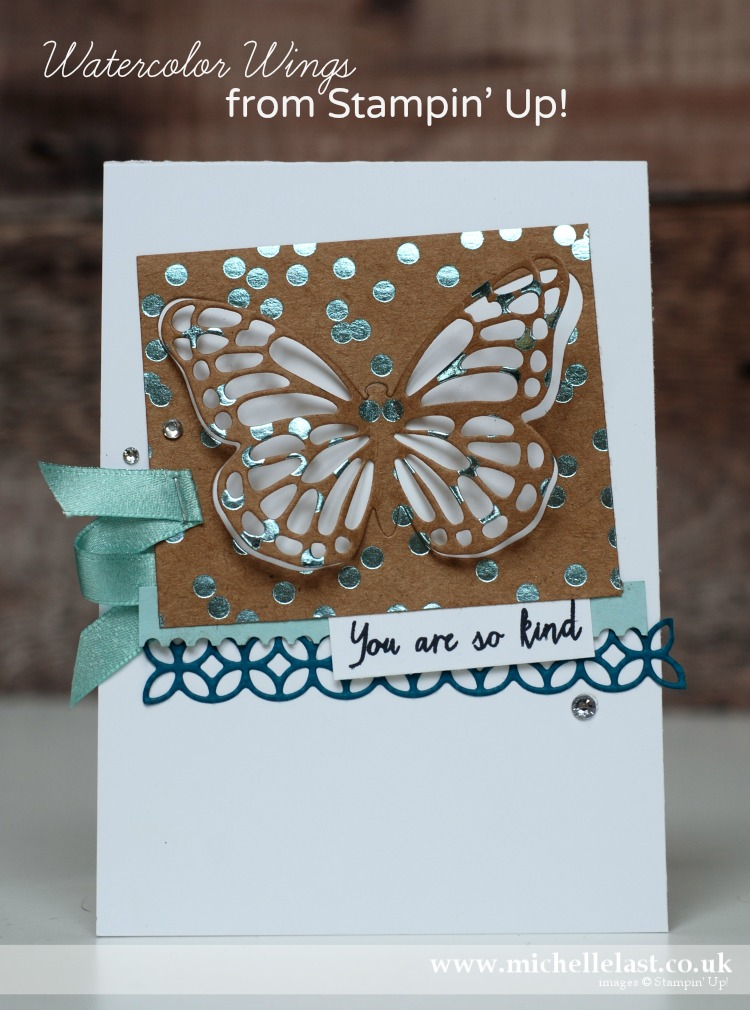 Watercolor Wings from Stampin' Up! case of Tanja Kolar