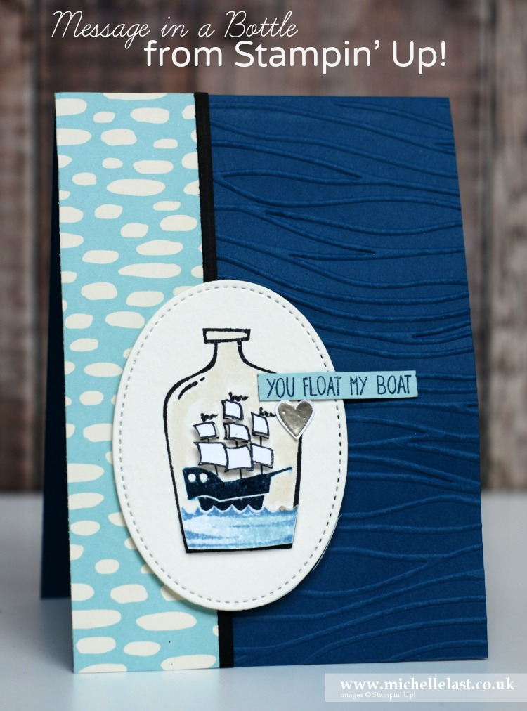 Anniversary Card made using Message in a Bottle