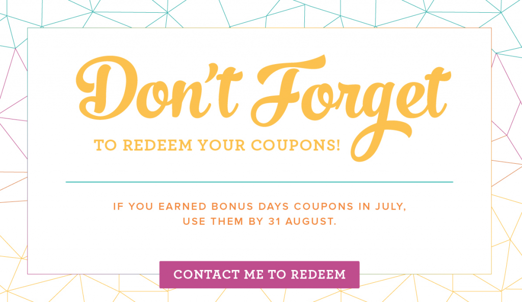 Spend your Bonus Days Coupons from Stampin Up