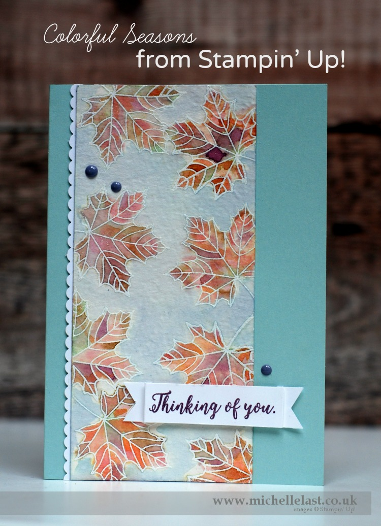 Colourful Seasons Leaf Background from Stampin' Up!