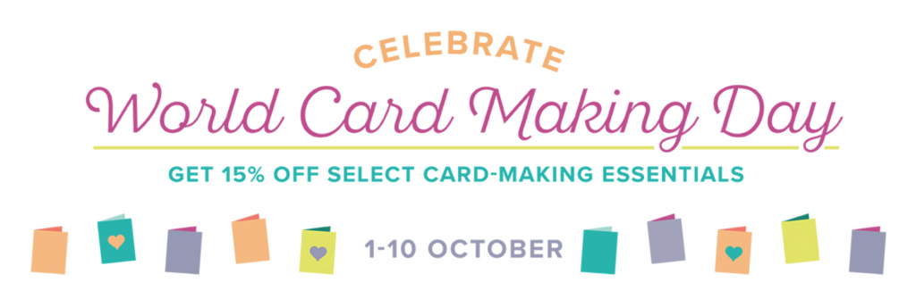 Discounted products on World Card Making Day