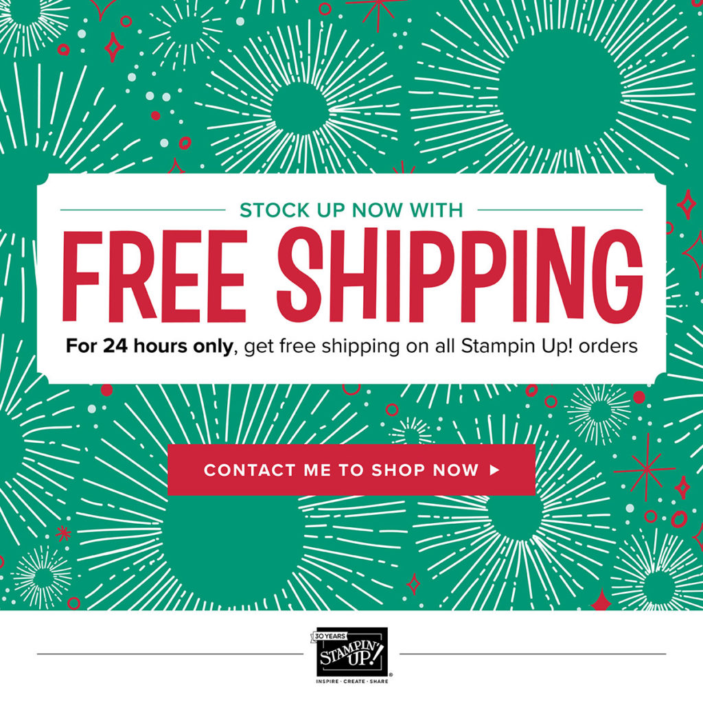 Free Postage from Stampin Up