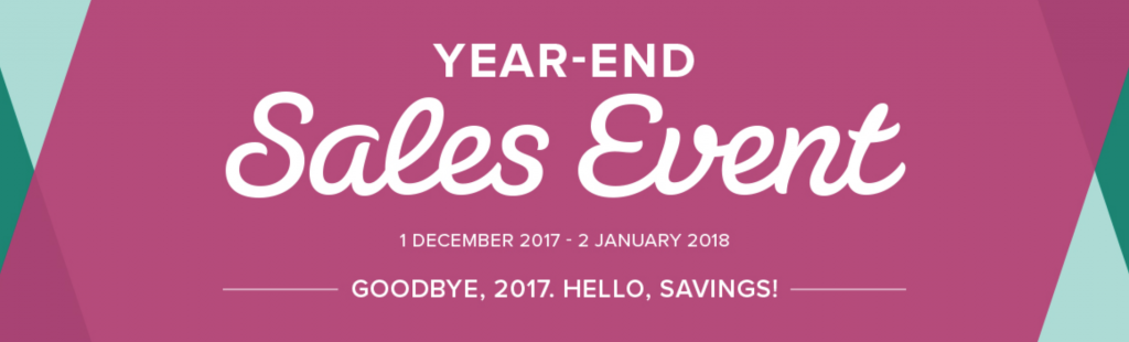 Year End Sales Event from Stampin' Up!