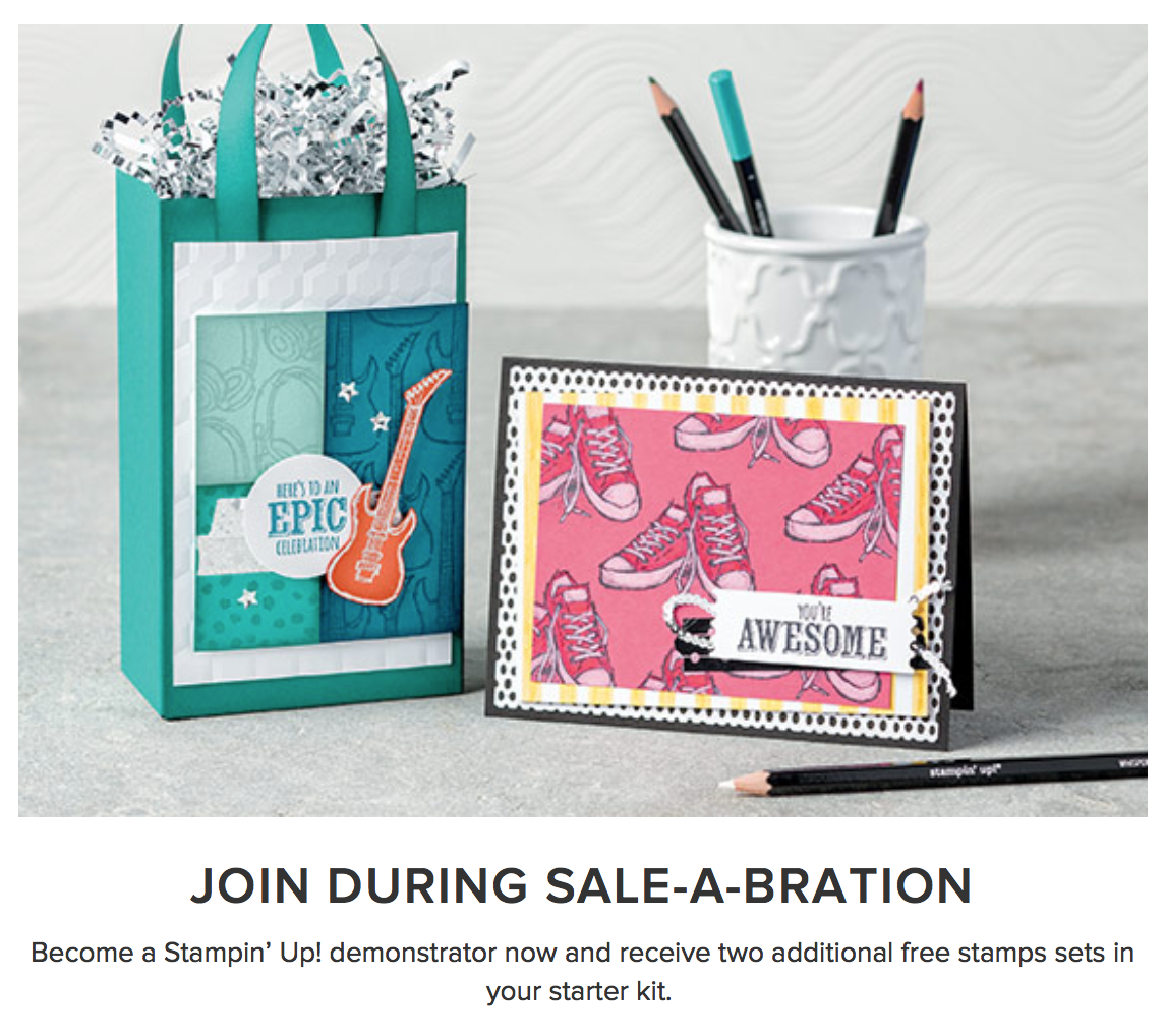 Join Stampin' Up! during Saleabration
