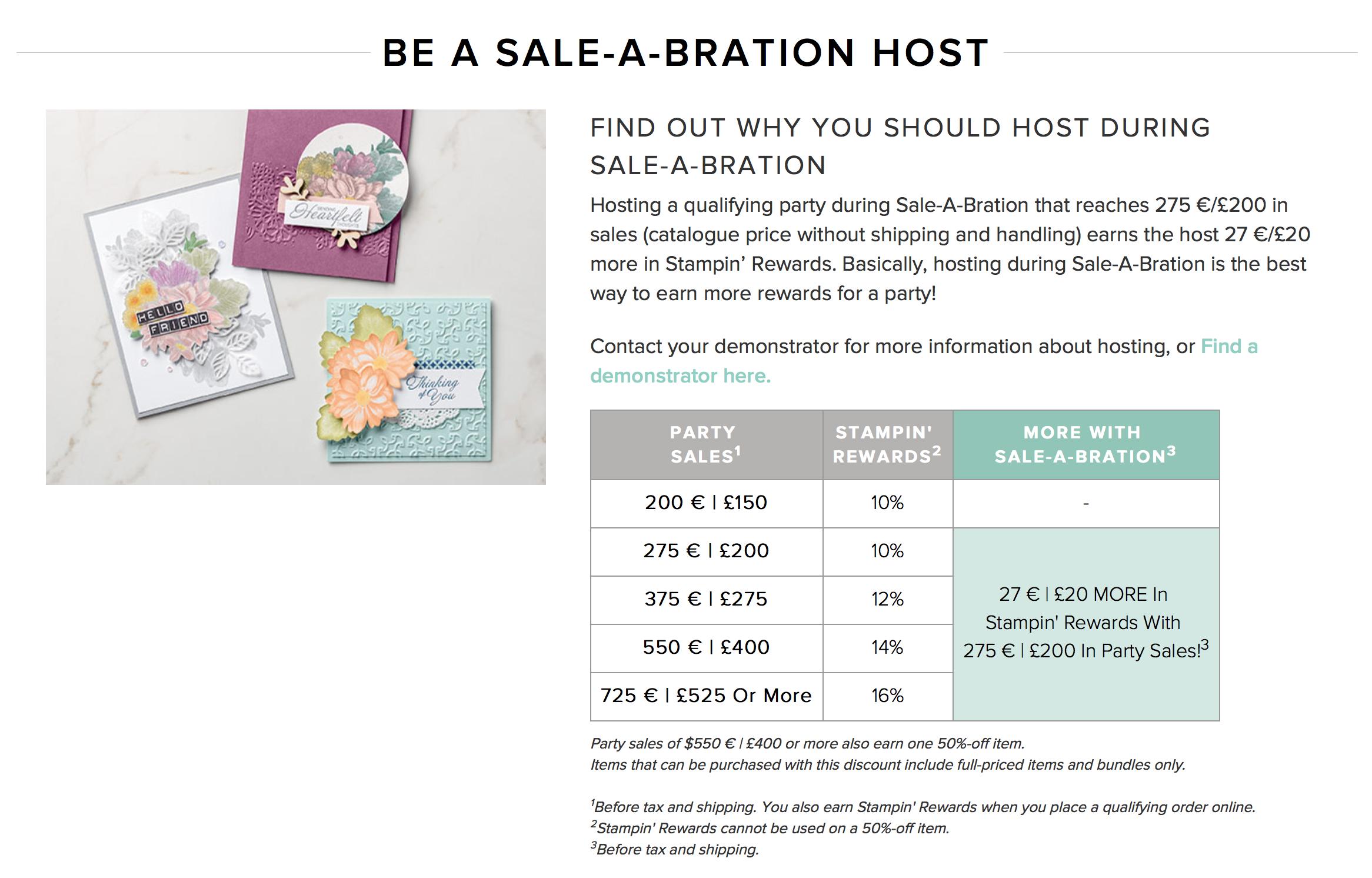 Extra Stampin Rewards in Saleabration