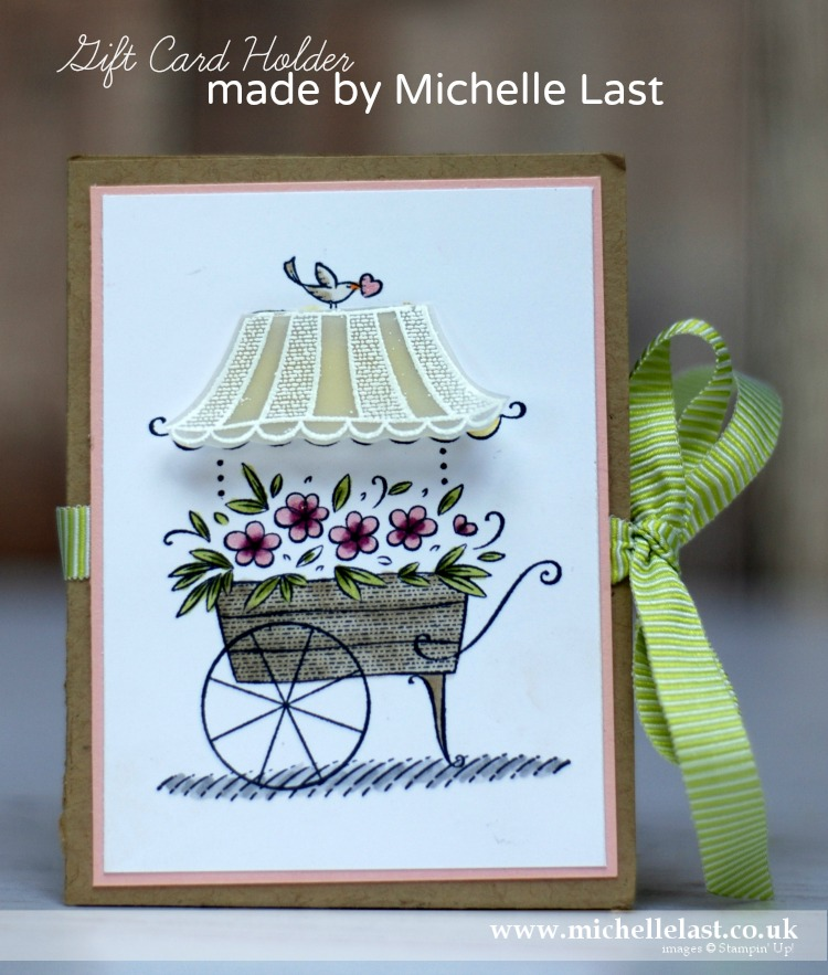 Gift Card Holder using Stampin' Up! products