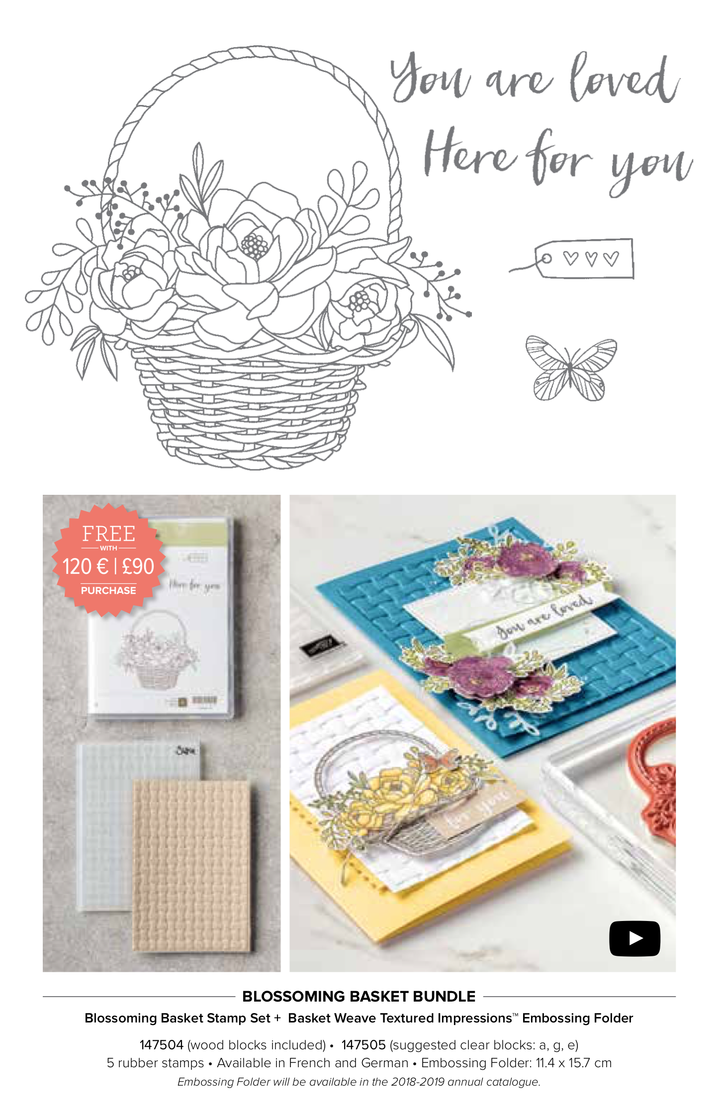 Blossoming Basket Bundle free from Stampin' Up!