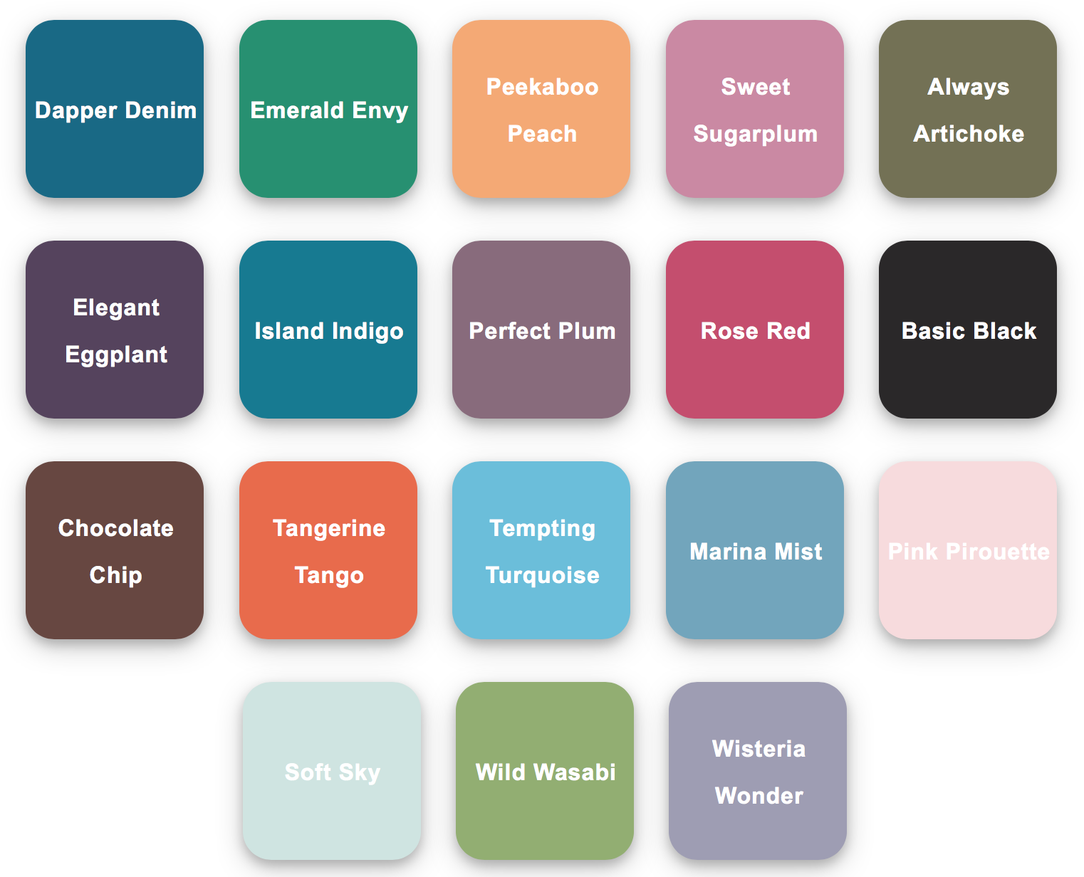 Stampin Up Retiring Colours April-May 2018