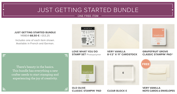 Just Getting Started Bundle Share What You Love Suite