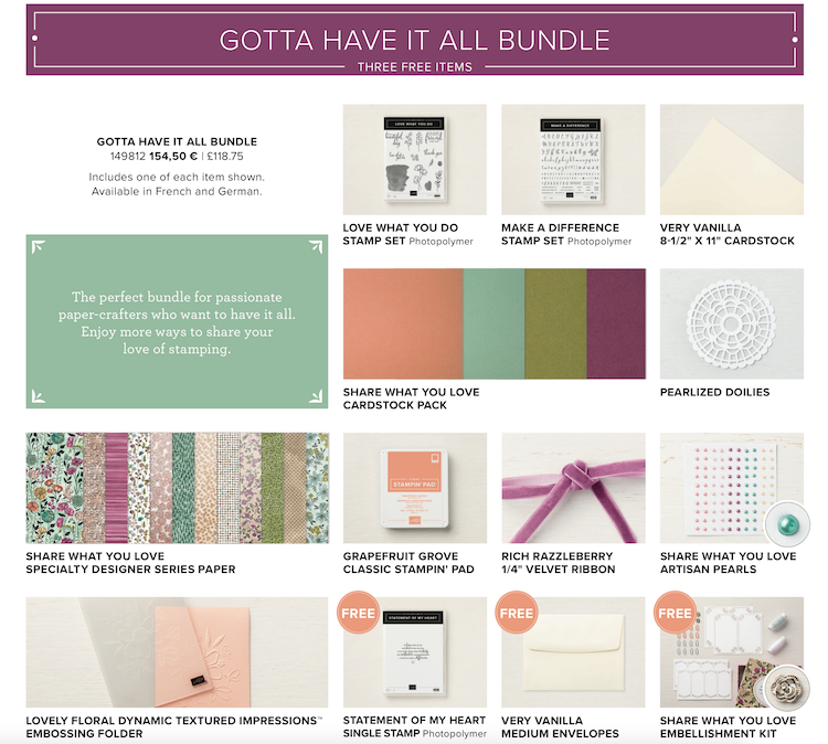 Gotta Have It All Bundle Share What You Love Suite