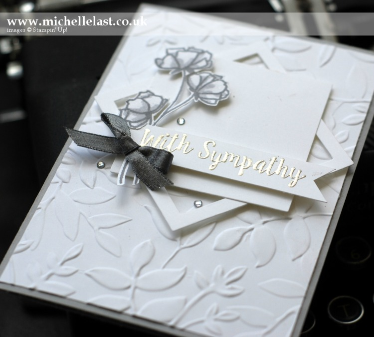 Sympathy Card made using Stampin Up products