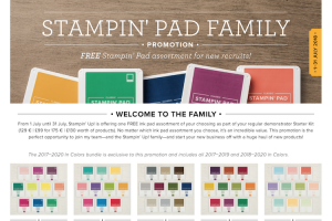 FREE Ink Pads when you join Stampin' Up! in July