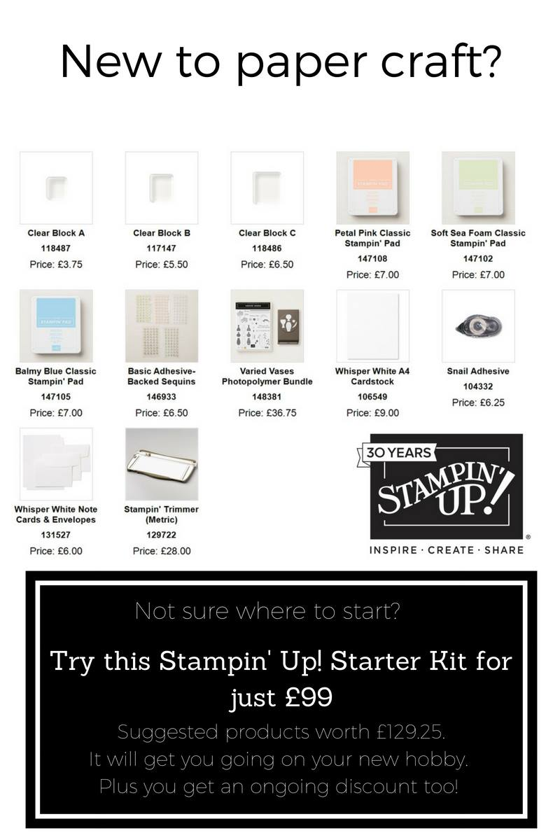 Stampin Up Starter Kit perfect for a Beginner