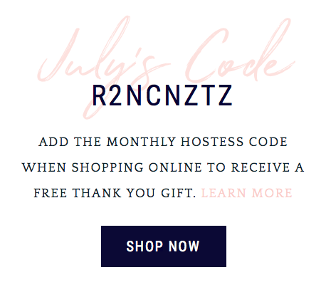 Free gift when using the hostess code