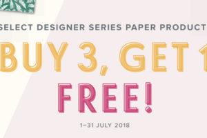 BUY 3 GET 1 FREE Designer Series Paper from Stampin' Up!