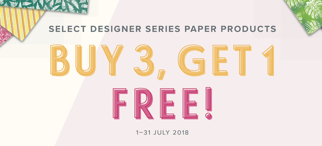 Buy 3 Get One Free DSP from Stampin Up!