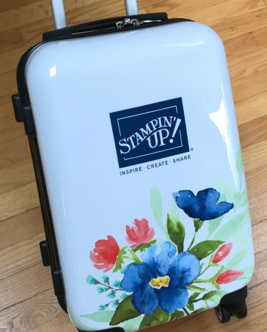 Stampin Up Suitcase recognition gift