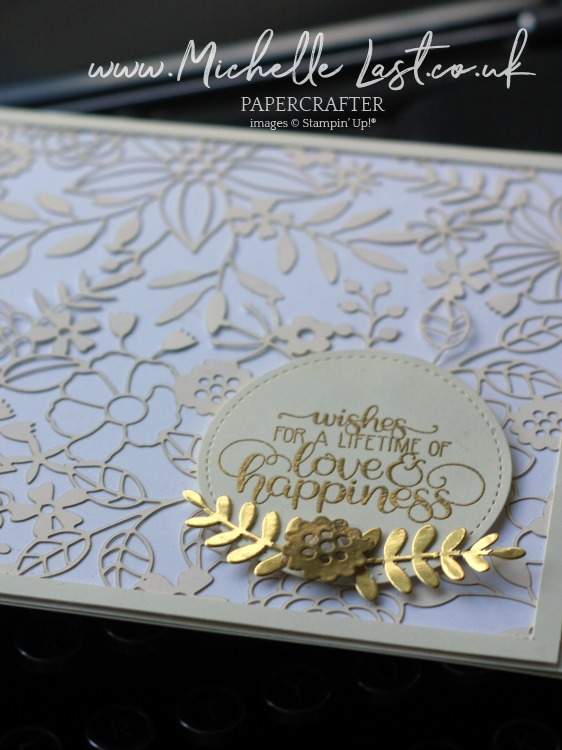 Wedding Card made using Stampin Up
