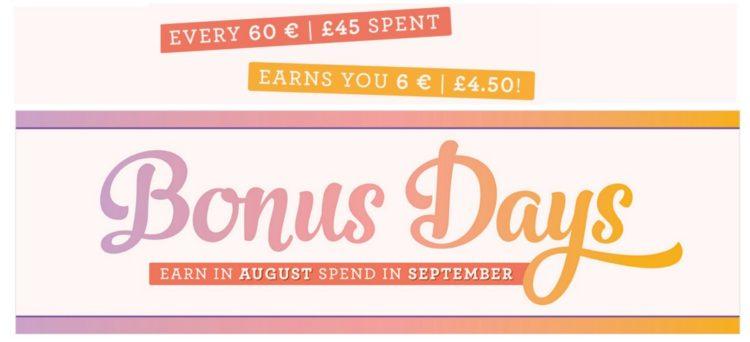 Bonus Days from Stampin' Up!