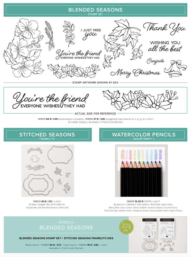 Colour Your Season from Stampin' Up!