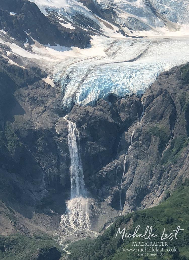 Waterfall Glacier in Skagway Alaska