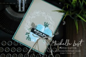 First Frost Wreath Card from Stampin Up