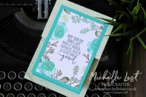 First Frost Z Fold Card using Stampin' Up! Supplies