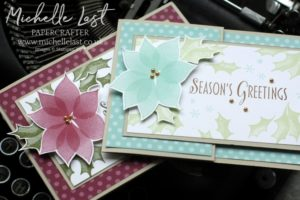 Poinsettia Christmas Cards from Stampin' Up!