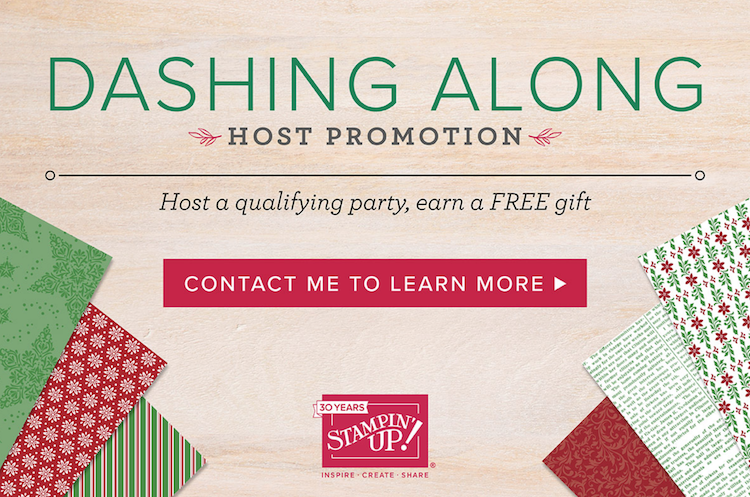 Dashing Along Host Promotion from Stampin Up